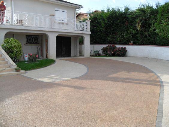 sol beton desactive terrasse - Cour En Beton Color