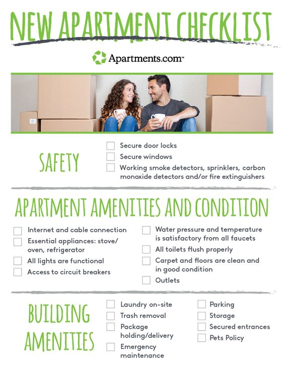 Moving out for the first time can be scary If itu0027s the first time - new apartment checklist