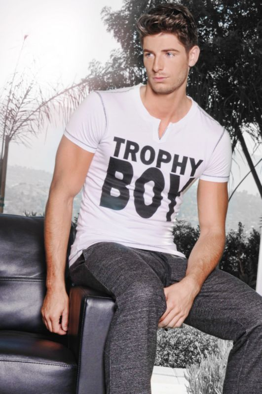 1851 Trophy Boy T-Shirt, White, Lifestyle Image, Model Adam