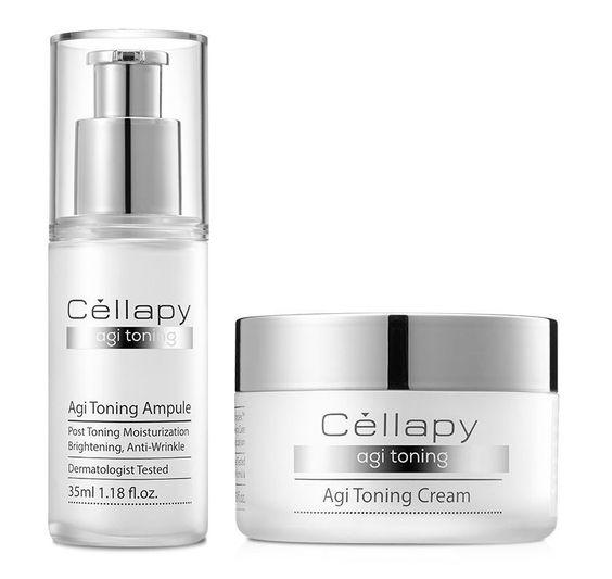 Cellapy Agi Toning Set(ampule 35ml, cream 50ml) brightening anti-wrinkle #Cellapy