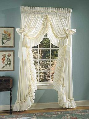 Priscilla curtains and curtains on pinterest for Priscilla curtains living room