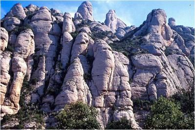 the mysterious mountains of Montserrat, Spain