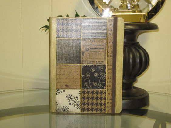 Brown Paper Tile Altered Composition Notebook by Ratchetnous123