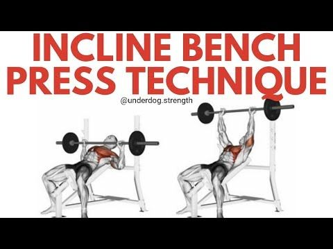 Incline Bench Press Form Workout Your Upper Chest Underdog Strength Training Incline Bench Bench Press Bench Press Workout