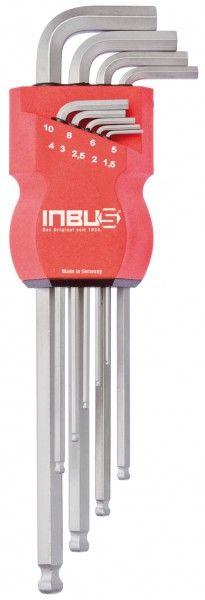 INBUS® 70228 - Edelstahl 9tlg. 1,5-10mm Made in Germany      Satz 9tlg. 1.5-10mm     rostfreier Edelstahl     10 Jahre Garantie     Marke: INBUS® - Das Original seit 1934.   http://www.inbus.de/home/inbus-metrisch-kugelkopf/57/inbus-70228-inbusschluessel-satz?c=6