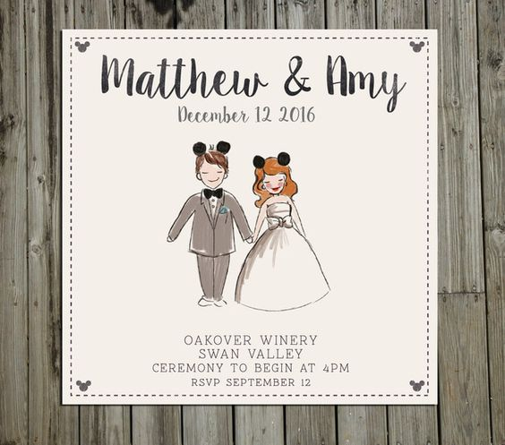 This Disney invitation for your fairytale wedding: