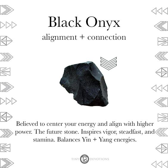 Marble Onyx Meaning : Black onyx gemstones sacred materials tiny devotions