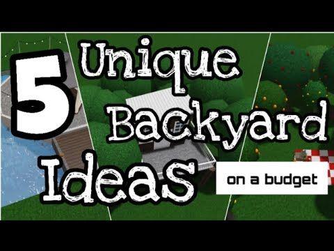 Bloxburg Backyard Ideas No Pool