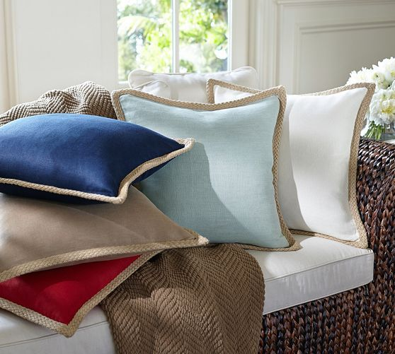 Decorative Pillows At Pottery Barn : Jute Braid Pillow Cover Pottery Barn Pillow talk Pinterest Pottery Barn, Pottery and Barns