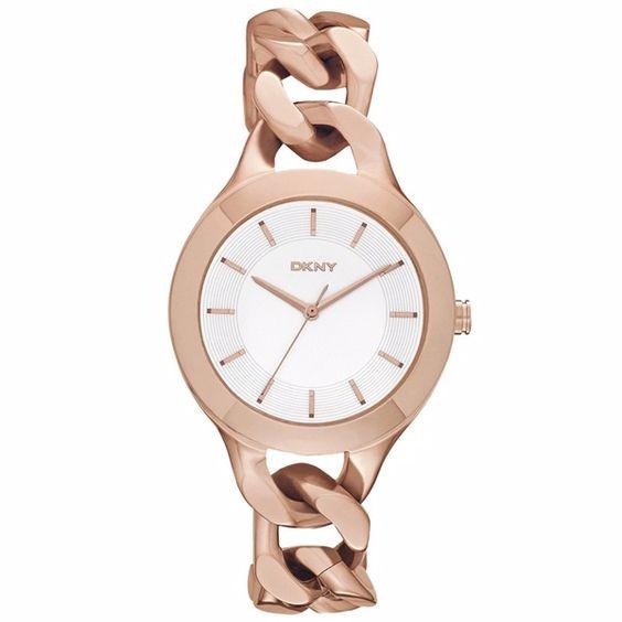 DKNY 美好印記繩索鍊錶-玫瑰金/35mm - PChome購物中心 $4800