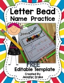 Use letter beads to build names! Editable so you can make for each ...