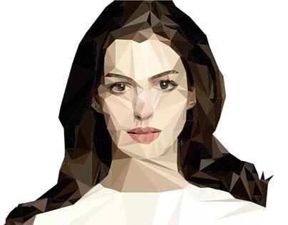 "Check out new work on my @Behance portfolio: ""Polygon Art - Anne Hathaway""…"