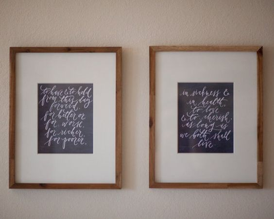 personalised wedding vows framed