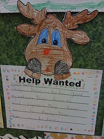 Reindeer wanted...love this! This blog has some very cute ideas. :)