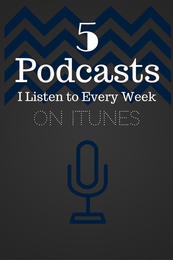 I'm obsessed with listening to and finding new podcasts! Here's my 5 favorite podcasts that I listen to every week! I love putting my headphones in and listening to these when I go on my morning walk. By the time I get home I'm so inspired and motivated!