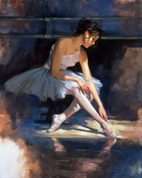 """Sunlit Grace"" or ""Blue Reflections"" 20x16 by Richard S. Johnson"