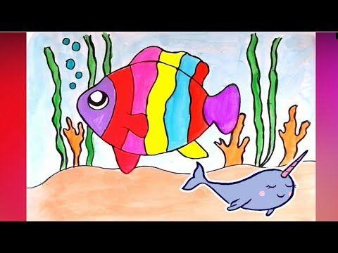 Como Dibujar Un Pez De Colores Colorear Dibujos Faciles Para