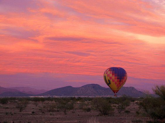 hot air balloon ride @ sunset.... A MUST!