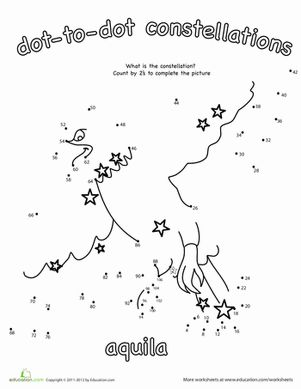 Dot to Dot Constellation: Aquila | The o'jays, Count and Children