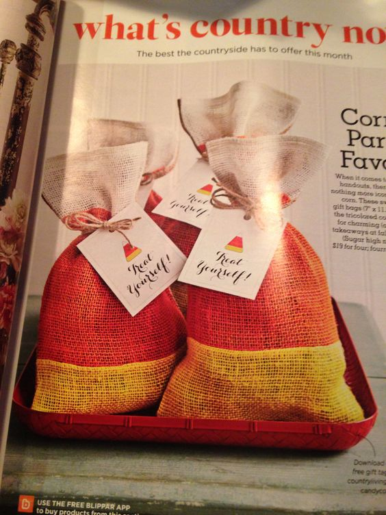 Treat bags- Country Living October Issue
