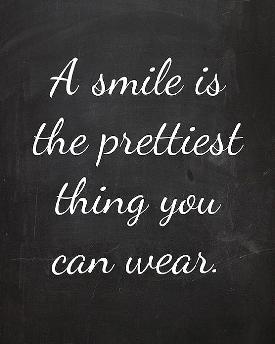 A Smile Is The Prettiest Thing You Can Wear  4x6 Faux by cjprints: