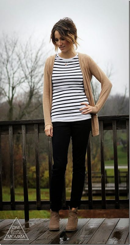 What I Wore- Stripes and Stella and Dot - ONE little MOMMA