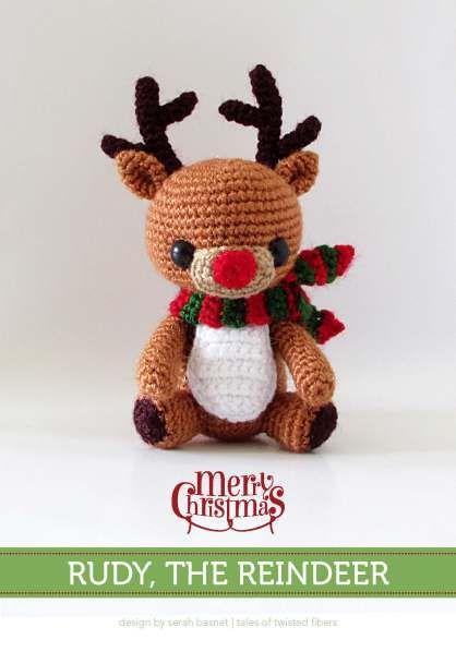 Free Crochet Amigurumi Cat Pattern : Free pattern, Reindeer and Amigurumi on Pinterest