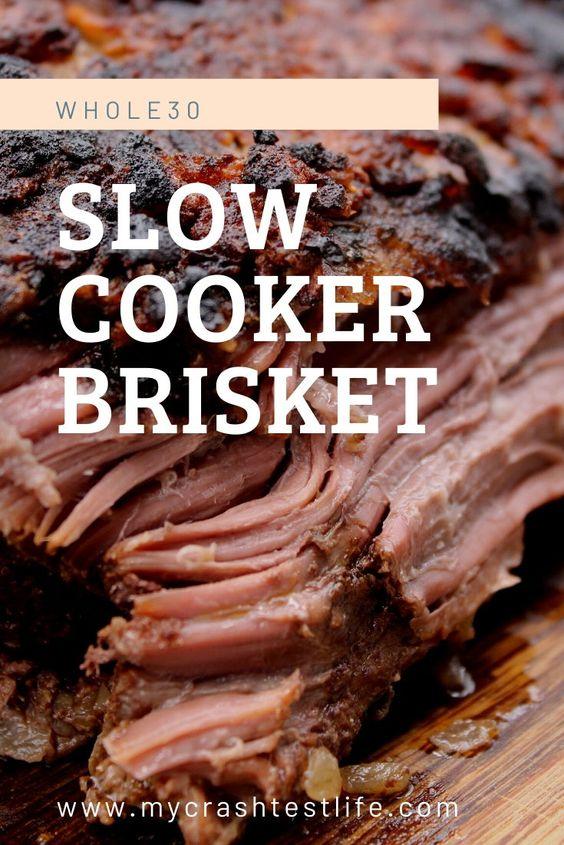 Slow Cooker Beef Brisket (Whole30, Keto) - My Crash Test Life