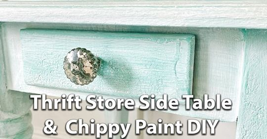 Jami Ray Vintage Chippy Paint Diy Chippy Vintage Side Table