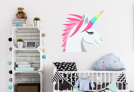 Wandtattoo Emoji Unicorn von wall-art.de
