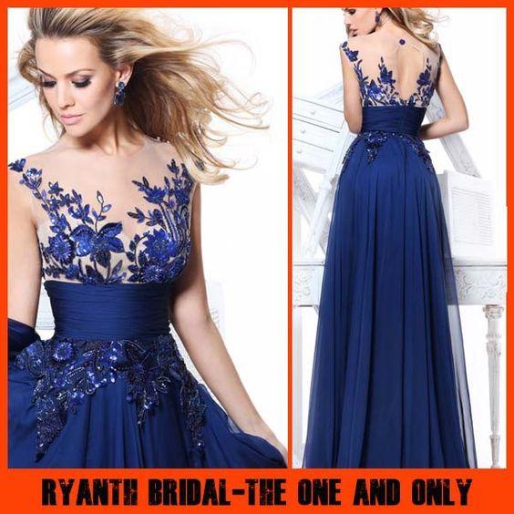 RBP 393  Special Design Sheer -illusion Strap Tarik Ediz 2014 Latest Style Evening Dress Sequined Vestido Longo US $109.33