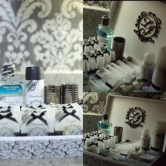 O lindo registro de @ricardonascimentorecife do kit toalete produzido pela equipe #makeawishatelie para a querida noiva @livia_holanda  #makeawish #makeawishatelie #caixas #caixasemtecido #caixasobmedida #caixaspersonalizadas #kittoalete #kittoilette #acrilico #casamento #wedding #noiva #bride by makeawish_atelie