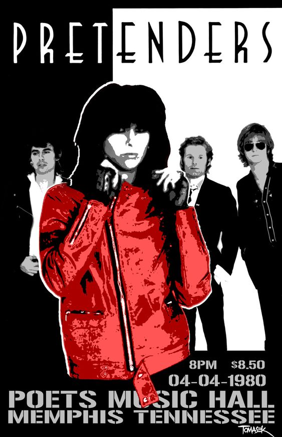 The Pretenders Concert Poster https://www.facebook.com/FromTheWaybackMachine