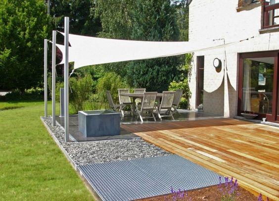 Shade Sails Umbrosa Ingenua With Images Shade Sail Modern Garden Furniture Modern Pergola
