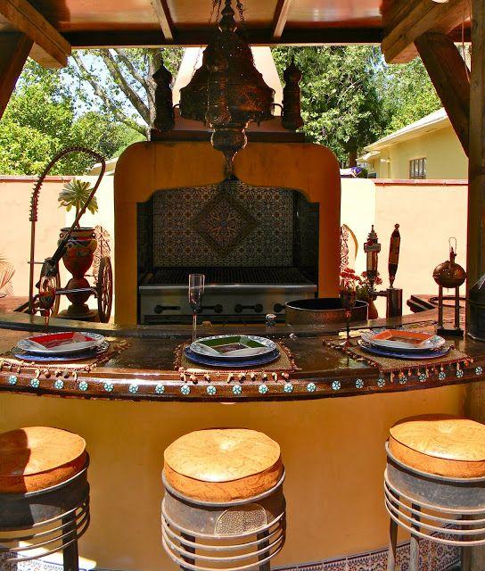 Moroccan Style Outdoor Kitchen, Land Park Garden
