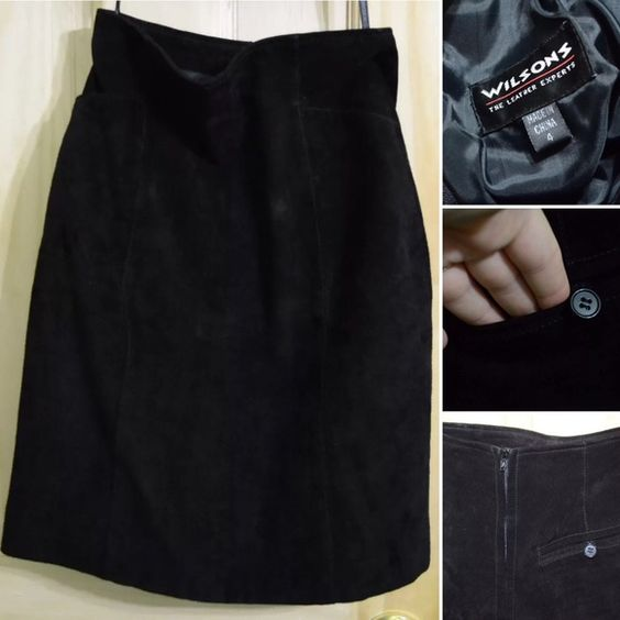 Vintage Wilsons Genuine Suede Leather Skirt 4 | Leather, Shells ...