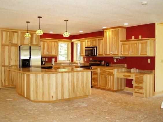 hickory kitchens lights island hickory cabinets