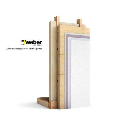 ECO Holzrahmen System mit Holzfaserplatten