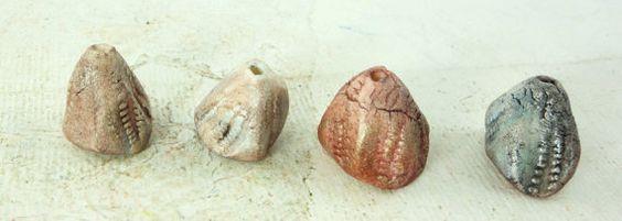 Artisan Ceramic Porcelain Beads blue grey pink by greybirdstudio, £24.00