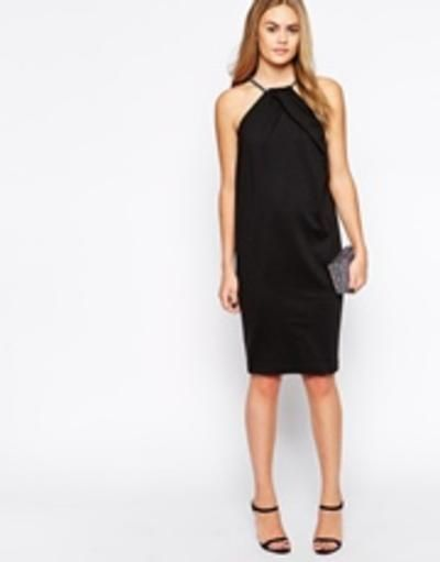 Jasos necklace cocoon dress  black #lace #feminie #dress #covetme
