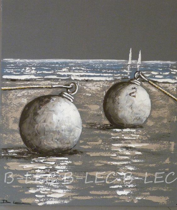 Les Bouées de B-LEC sur fond gris moyen