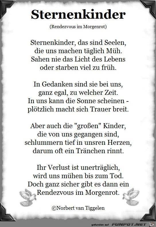 Pin Von Diana Kase Auf Trauer Sternenkinder Gedichte