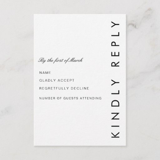 Modern Folio Rsvp Card Zazzle Com Minimalist Wedding