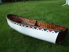 9 Old Town Wood Boat Restored Antique Wood Canvas Canoe