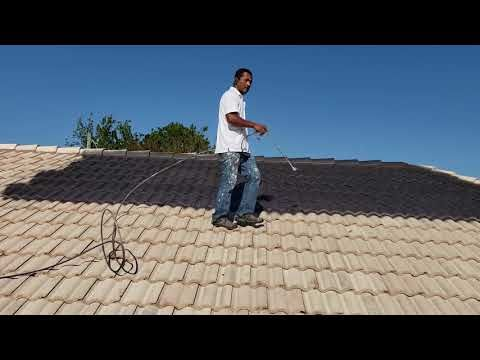 Painting The Roof Tile With Dark Color Roof Paint Roof Tiles House Paint Exterior