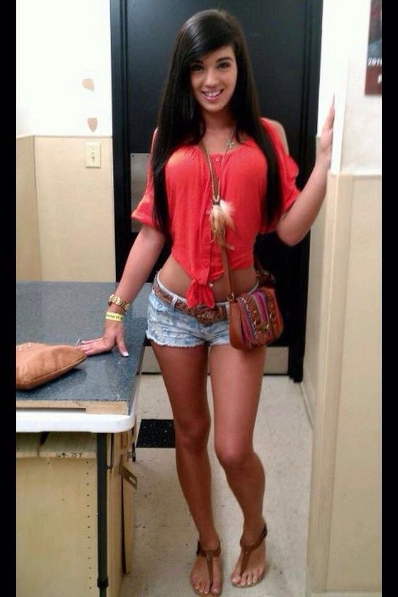 Short shorts pinterest shorts outfit and Tiny girl teen