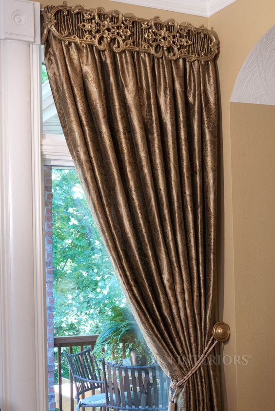 Interesting Use Of Iron Work Curtains Window Treatments