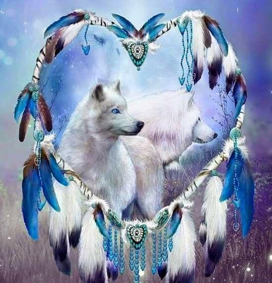Native wolf art
