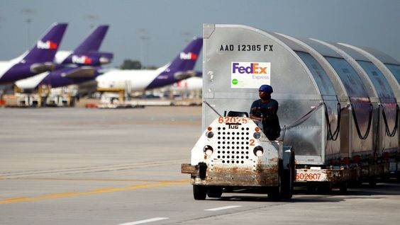 Shipping containers hold cargo at FedEx Memphis World Hub - fedex jobs