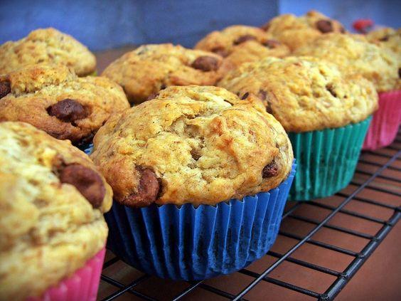 Banana and Choc-chip Muffins | redhotcentre